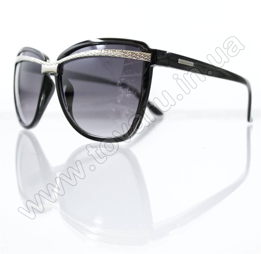Оптом Очки женские солнцезащитные - Черные - 8803