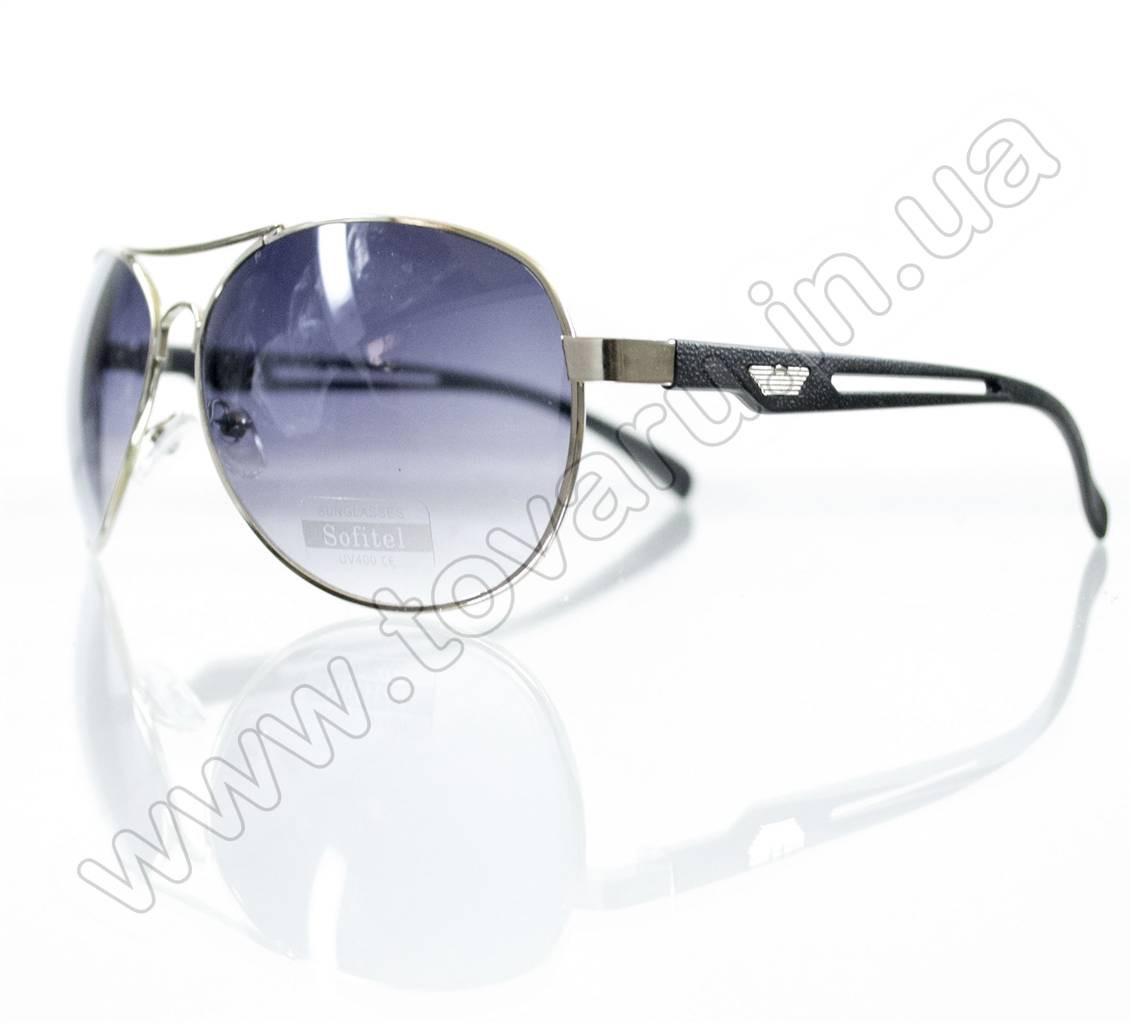Оптом Очки унисекс солнцезащитные - Armani - Серебряно-черные - 1606