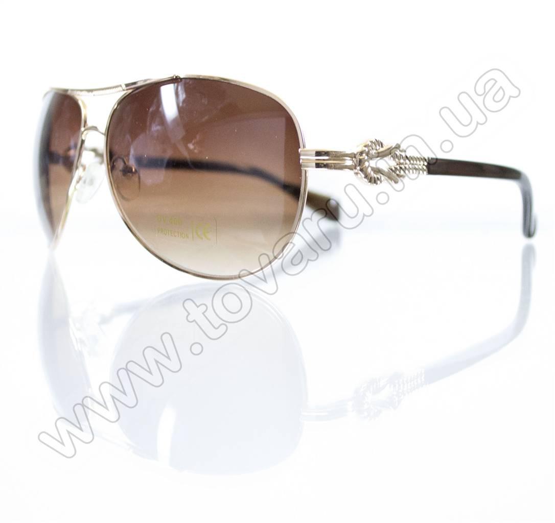 Оптом Окуляри унісекс сонцезахисні - Бежево-золоті - 3032
