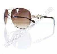 Оптом Очки унисекс солнцезащитные - Бежево-золотые - 3032, фото 1