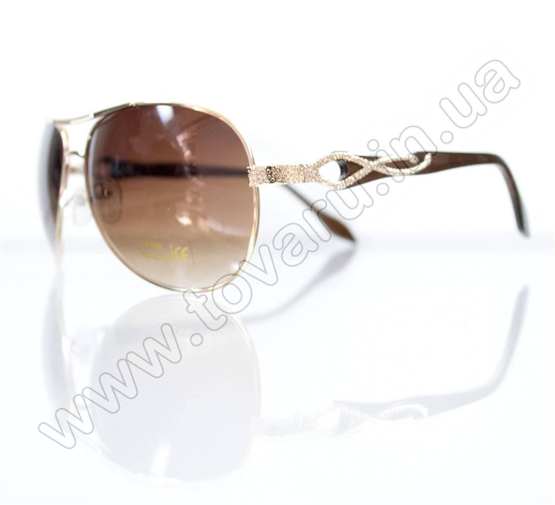 Оптом Очки унисекс солнцезащитные - Золотые - 3039, фото 1