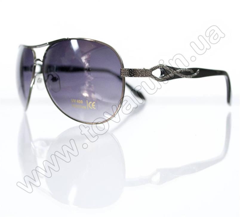 Оптом Очки унисекс солнцезащитные - Черные - 3039, фото 2