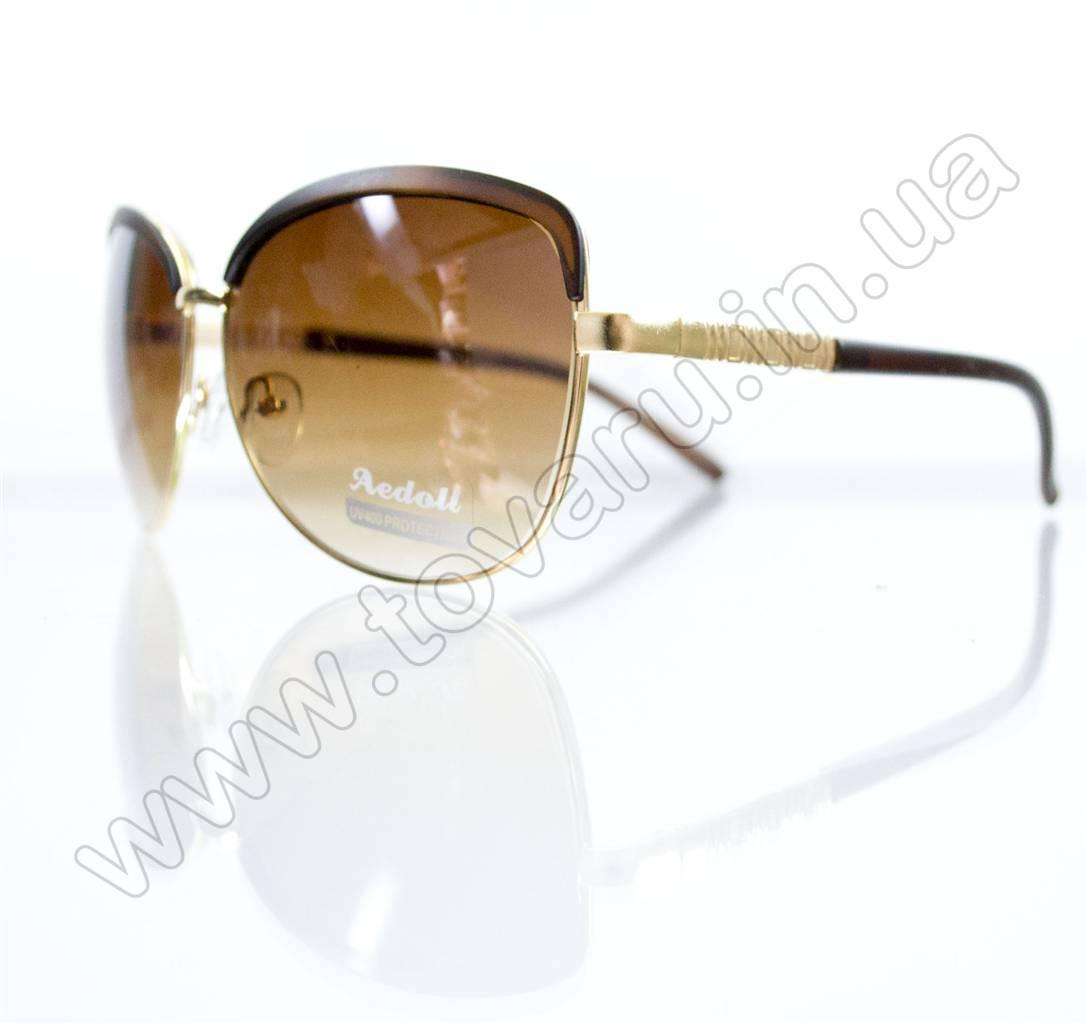 Оптом Очки женские солнцезащитные - Коричневые - 5618