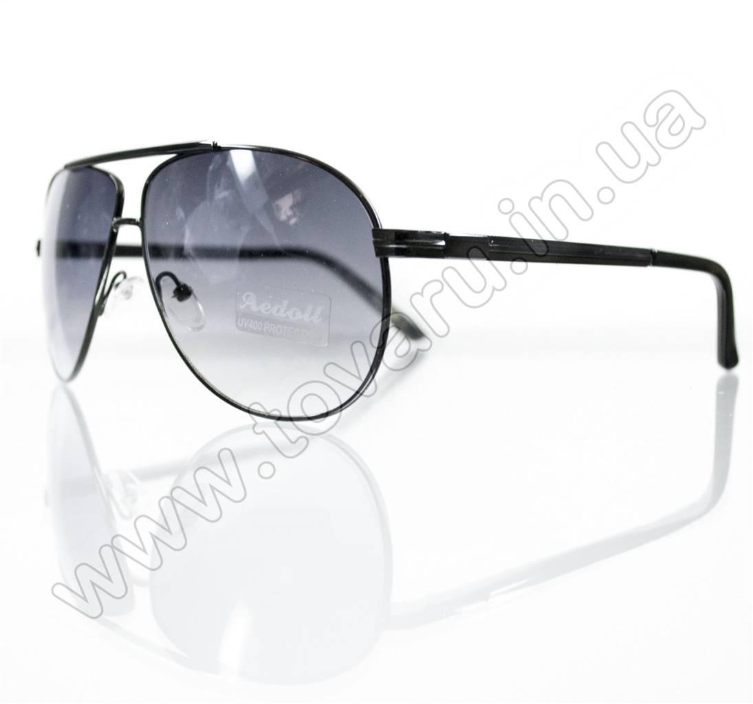 Оптом Очки унисекс солнцезащитные - Черные - 5845