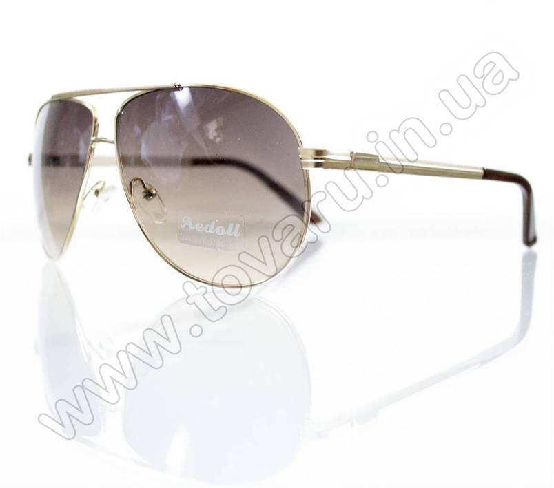 Оптом Очки унисекс солнцезащитные - Золотые - 5845, фото 2