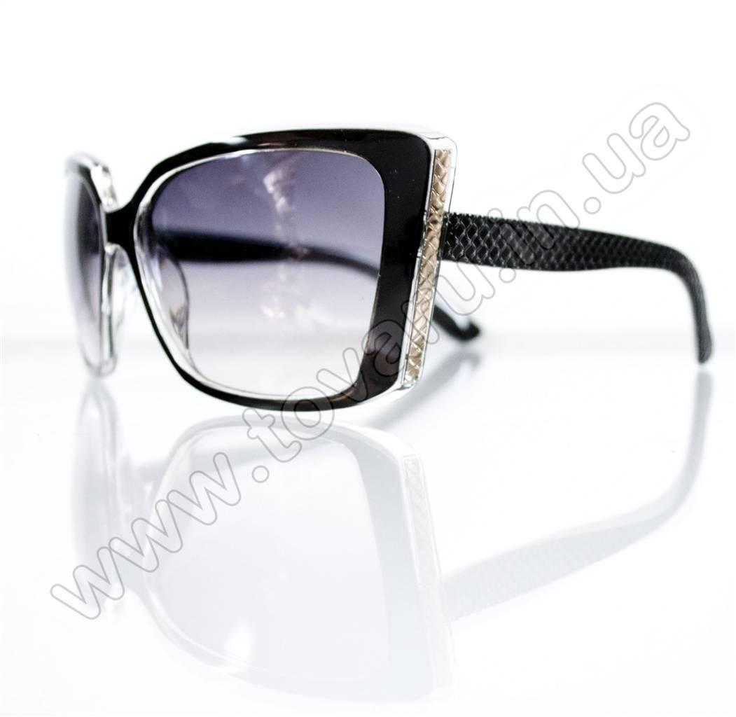Оптом Очки женские солнцезащитные - Черные - 5948