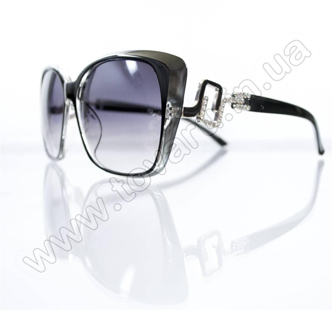 Оптом Очки женские солнцезащитные - Черные - 5950
