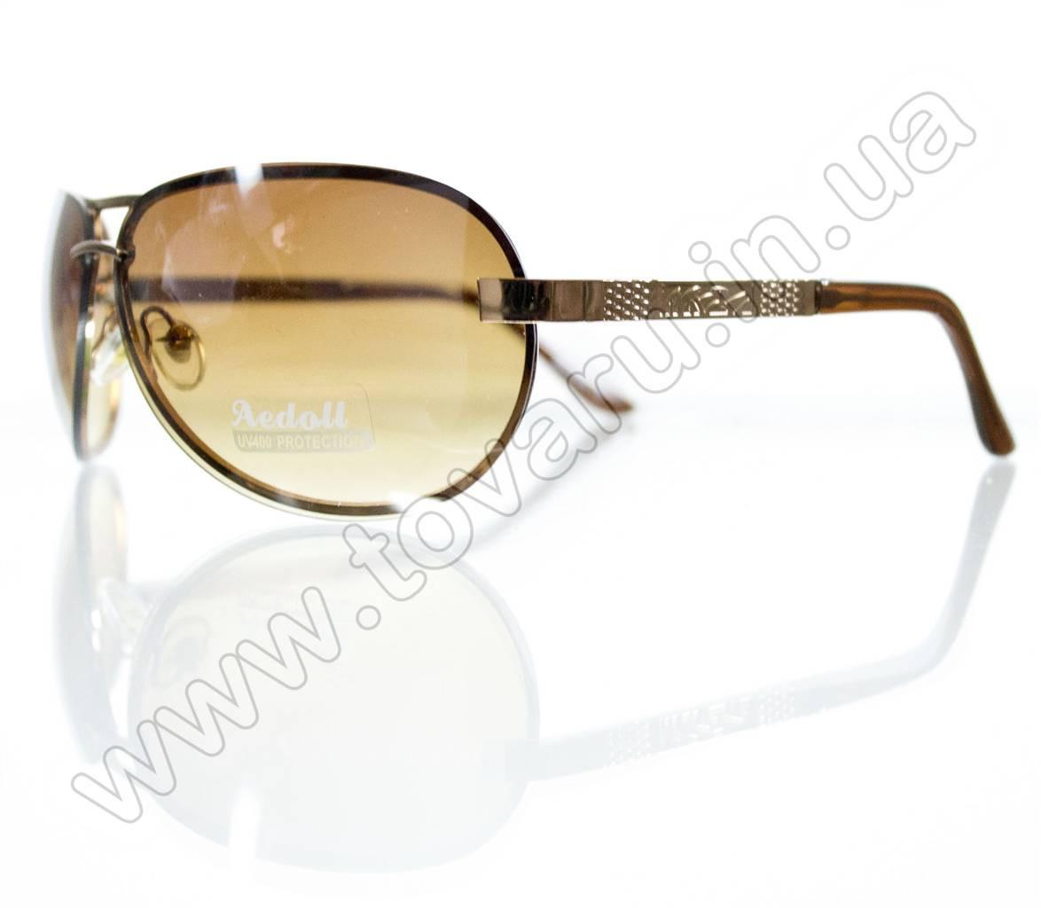 Оптом Очки унисекс солнцезащитные - Золотые - 09006