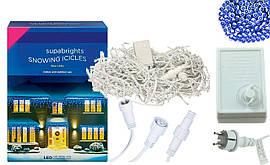 Новорічна гірлянда Бахрома 500 LED, Блакитний світло 24 м, 22,5 W