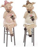 Декоративная фигурка Свинка на стуле, 2 вида, 21см