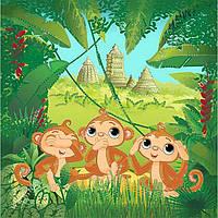 Набор для вышивки бисером Идейка Три обезьянки, КОД: 194158