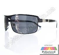 Оптом Очки мужские солнцезащитные поляризационные - Черные - 1660, фото 1