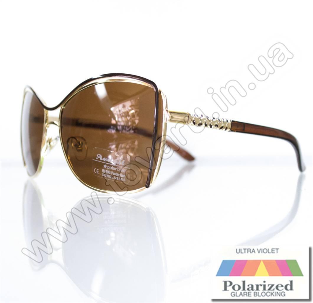 Оптом Очки женские солнцезащитные поляризационные - Коричневые - 8215