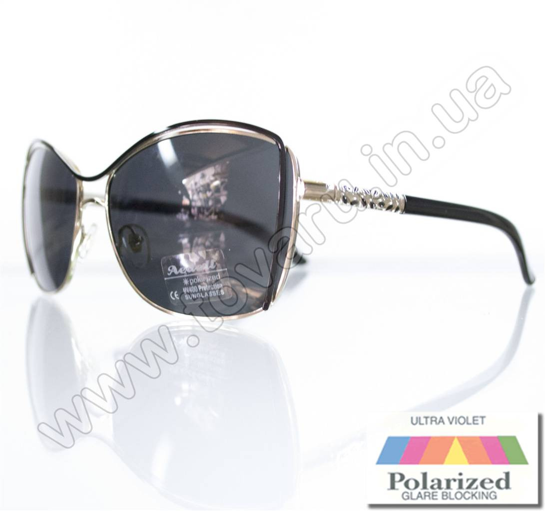 Оптом Очки женские солнцезащитные поляризационные - Черные - 8215