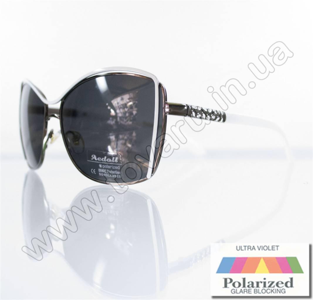 Оптом Очки женские солнцезащитные поляризационные - Белые - 8215
