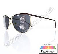 Оптом Очки женские солнцезащитные поляризационные - Коричневые (черная линза) - 015194, фото 1