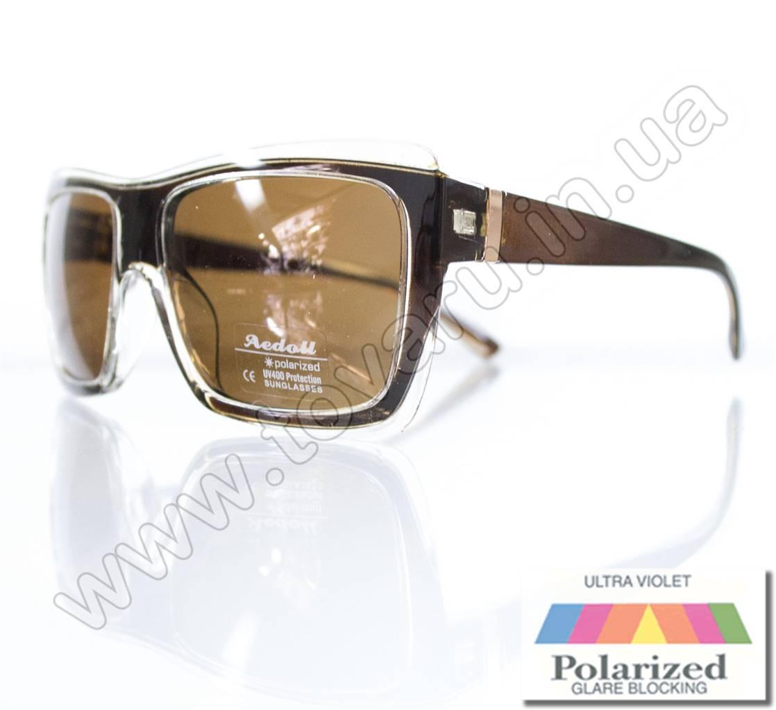Оптом Очки женские солнцезащитные поляризационные - Коричневые - P301