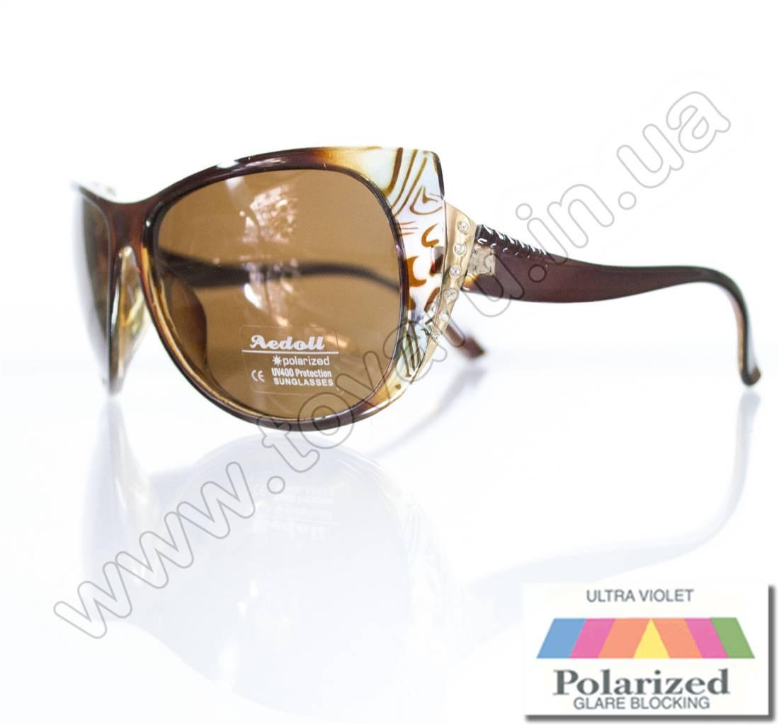 Оптом Очки женские солнцезащитные поляризационные - Коричневые - P515