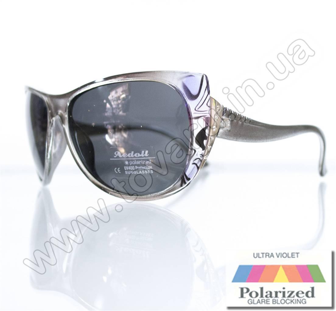 Оптом Очки женские солнцезащитные поляризационные - Серые - P515