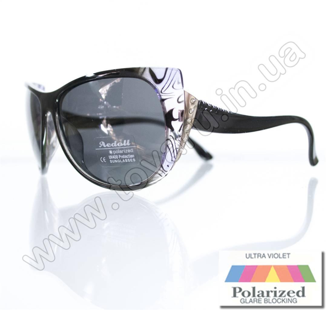 Оптом Очки женские солнцезащитные поляризационные - Черные - P515