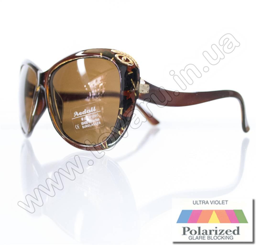 Оптом Очки женские солнцезащитные поляризационные - Коричневые - P521