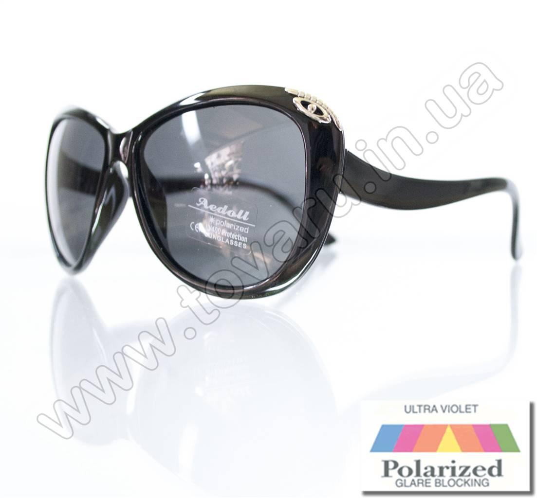 Оптом Очки женские солнцезащитные поляризационные - Черные - P521