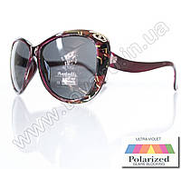 Оптом Очки женские солнцезащитные поляризационные - Бордовые - P521, фото 1