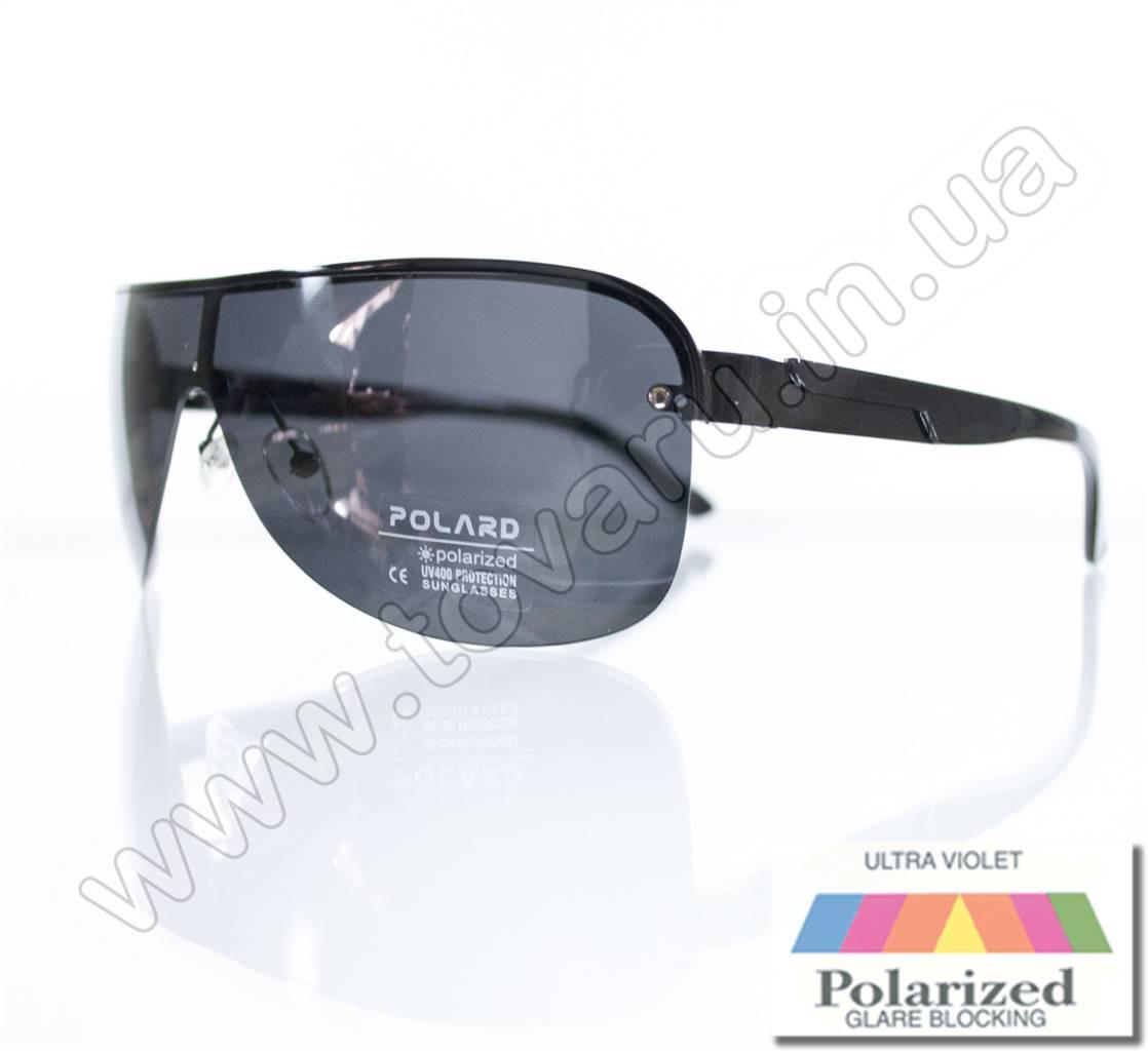 Оптом Очки мужские солнцезащитные поляризационные - Черные - P05001