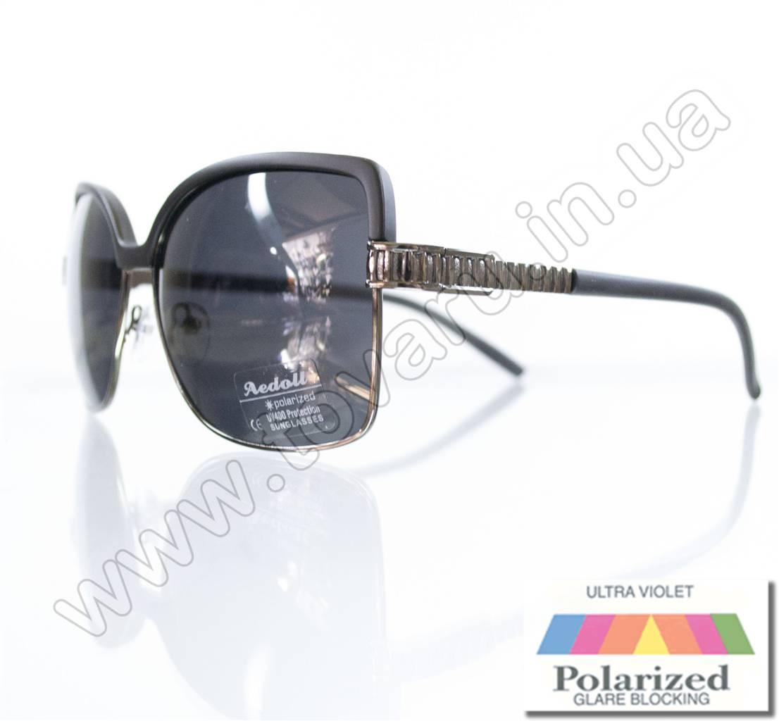 Оптом Очки женские солнцезащитные поляризационные - Черные - P5620