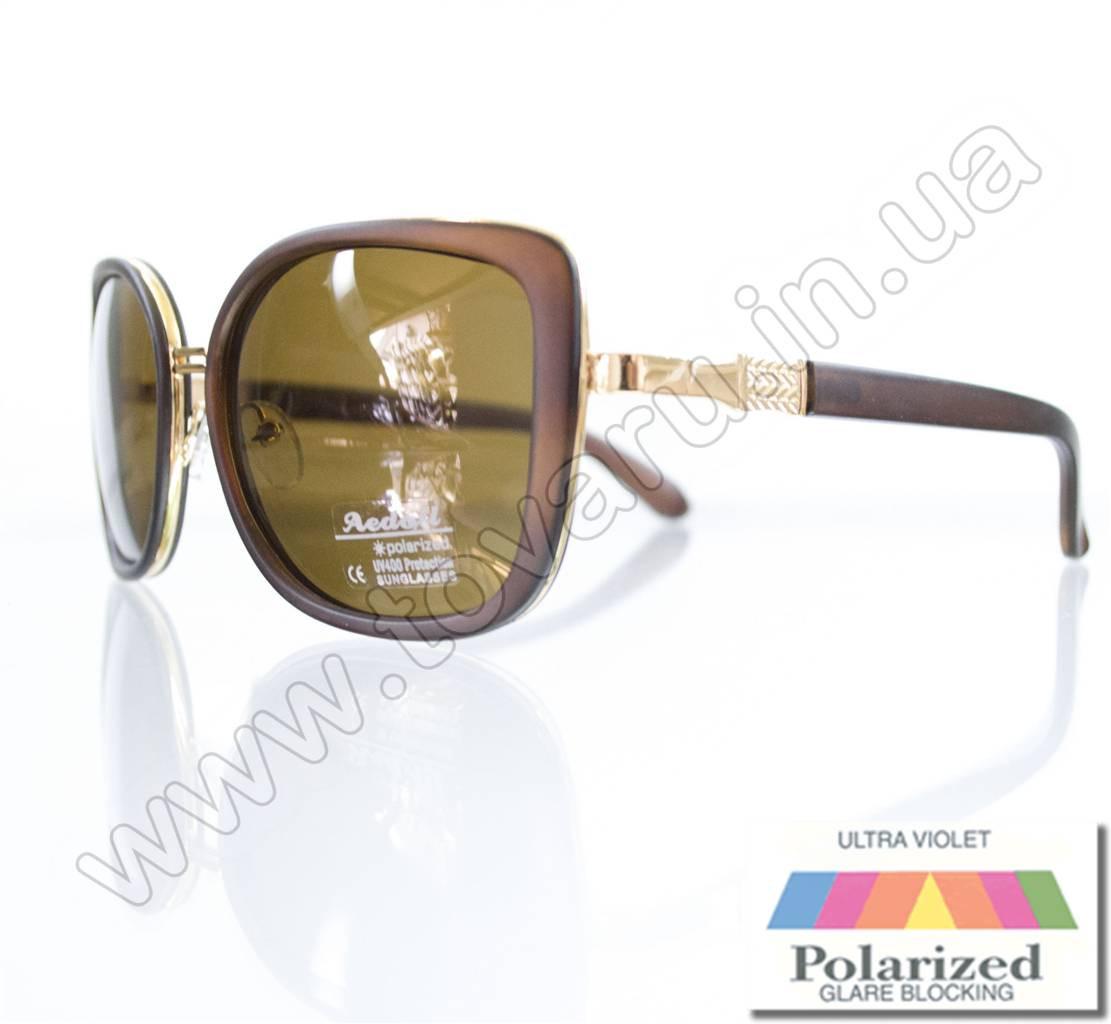 Оптом Очки женские солнцезащитные поляризационные - Коричневые - P5621