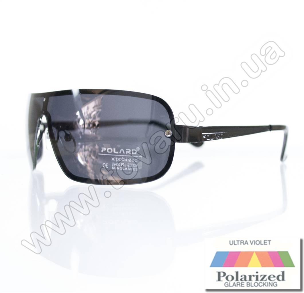 Оптом Очки мужские солнцезащитные поляризационные - Черные - P09036