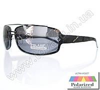 Оптом Очки мужские солнцезащитные поляризационные - Антифара - Черные (черное стекло) - PA1068, фото 1