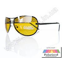 Оптом Очки унисекс солнцезащитные поляризационные - Антифара - Черные (желтое стекло) - PA09004, фото 1