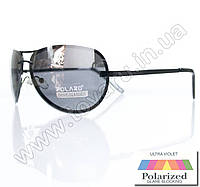 Оптом Очки унисекс солнцезащитные поляризационные - Антифара - Черные (черное стекло) - PA09004, фото 1