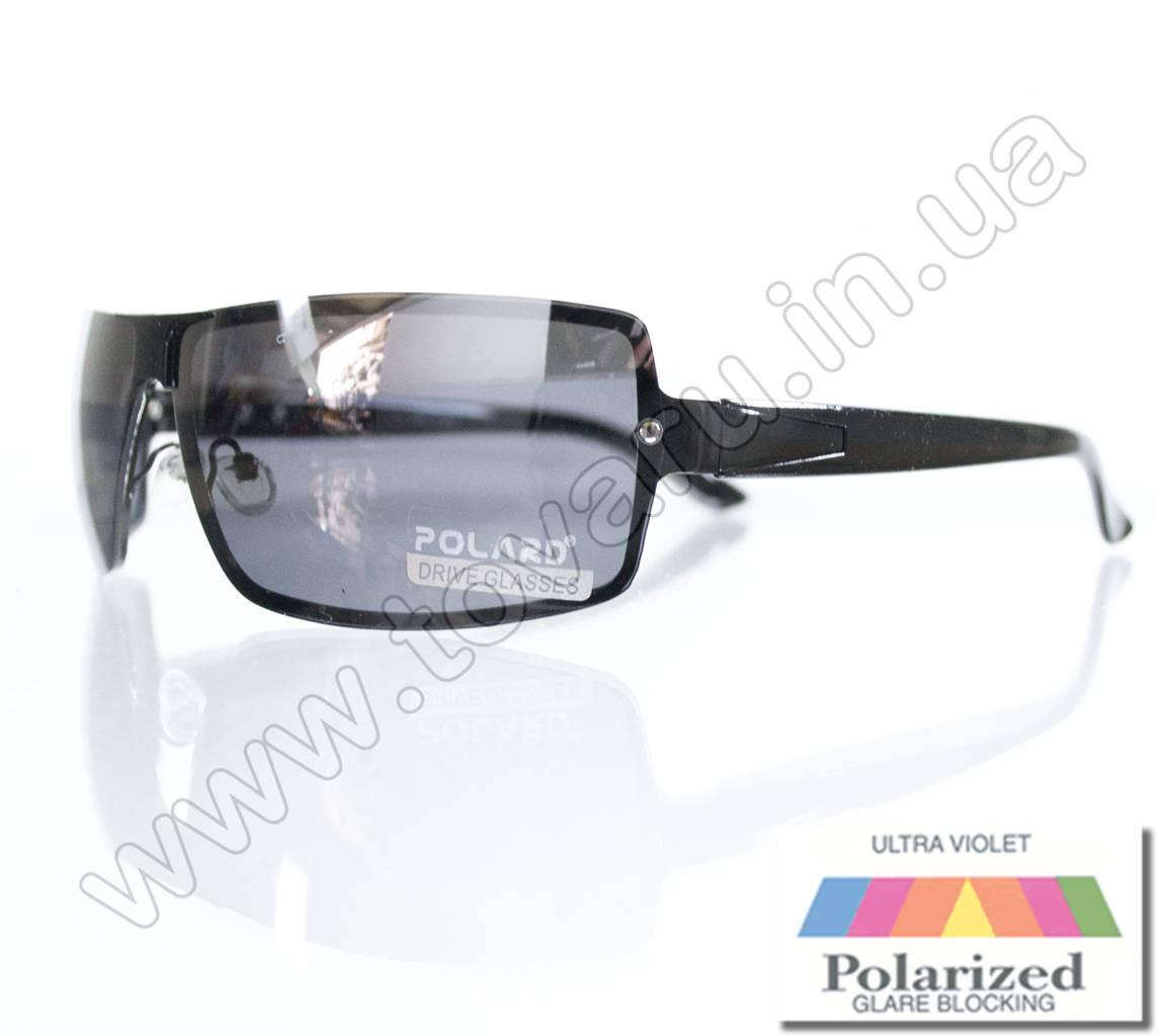 Оптом Очки мужские солнцезащитные поляризационные - Антифара - Черные (черное стекло) - PA11012