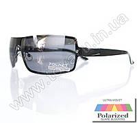 Оптом Очки мужские солнцезащитные поляризационные - Антифара - Черные (черное стекло) - PA11012, фото 1