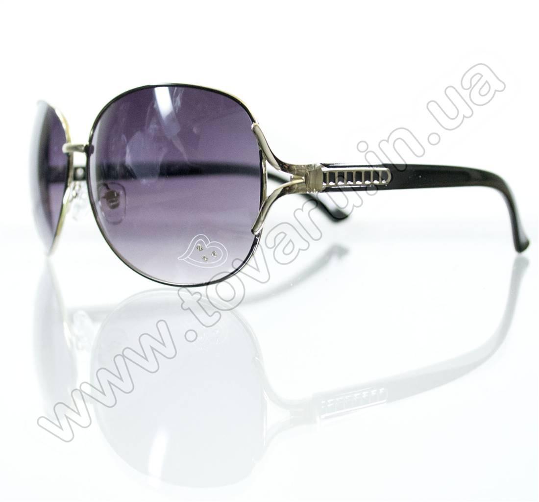 Оптом Очки женские солнцезащитные - Черные - S3314