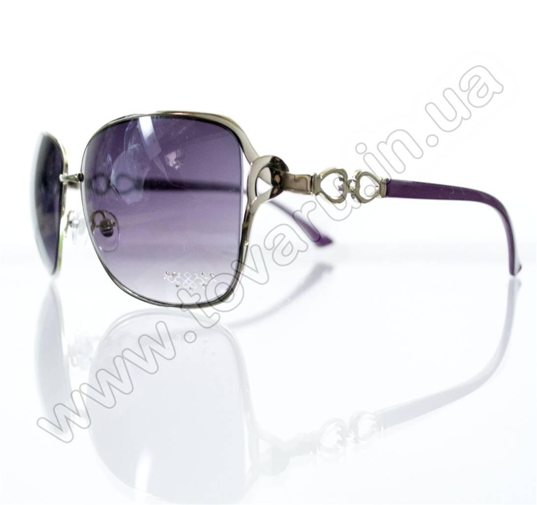 Оптом Очки женские солнцезащитные - Сиреневые - S3313