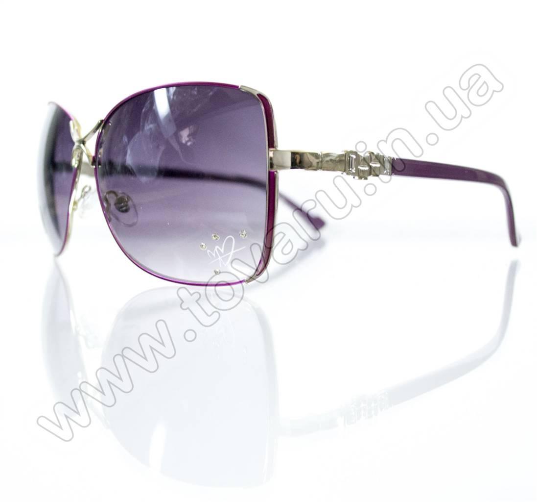 Оптом Очки женские солнцезащитные - Сиреневые - S3305