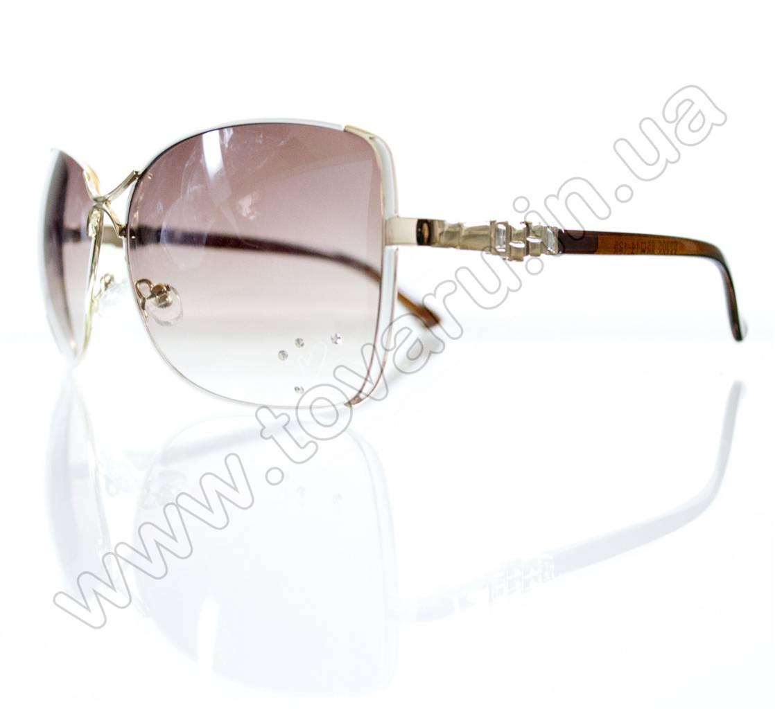 Оптом Очки женские солнцезащитные - Белые - S3305