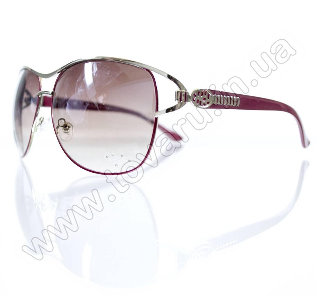 Оптом Очки женские солнцезащитные - Бордовые - S3302
