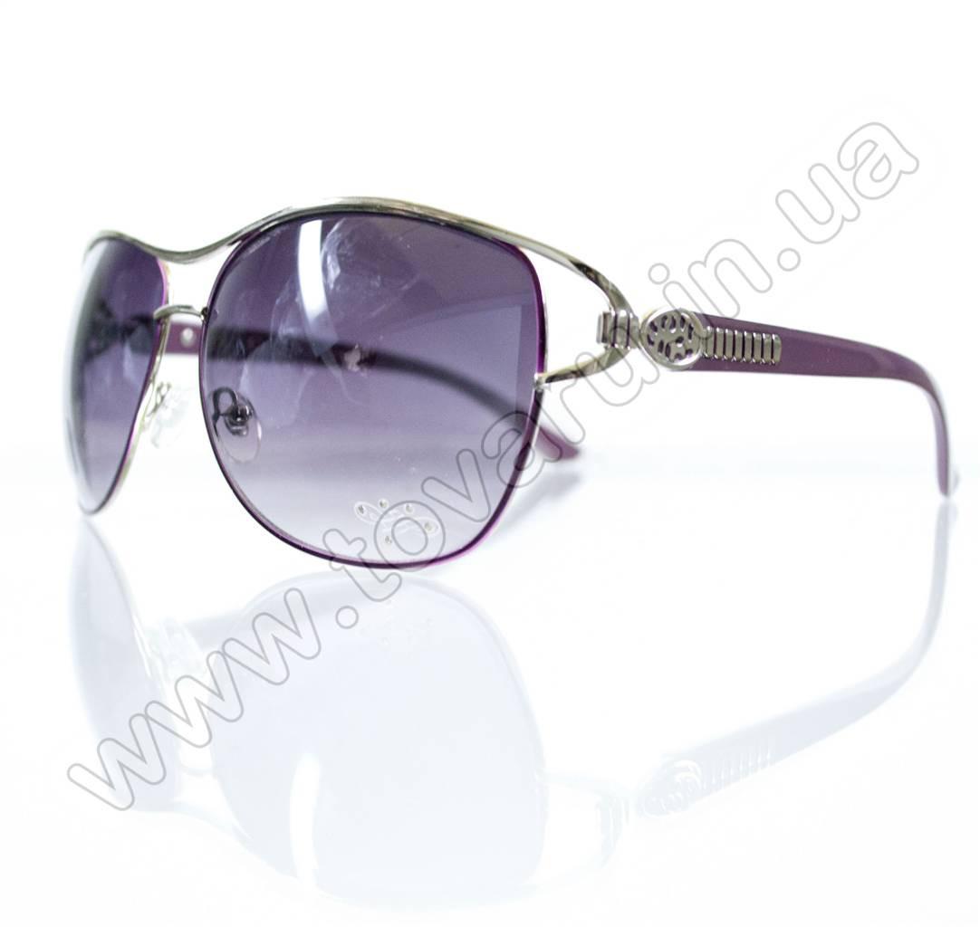 Оптом Очки женские солнцезащитные - Сиреневые - S3302