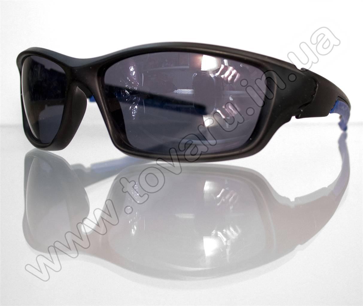 Оптом Очки мужские солнцезащитные спортивные - Черно-синие - 9892