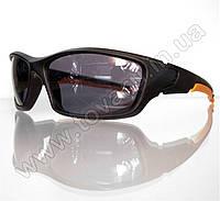Оптом Очки мужские солнцезащитные спортивные - Черно-оранжевые - 9892, фото 1
