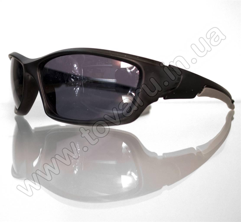 Оптом Очки мужские солнцезащитные спортивные - Черно-серые - 9892