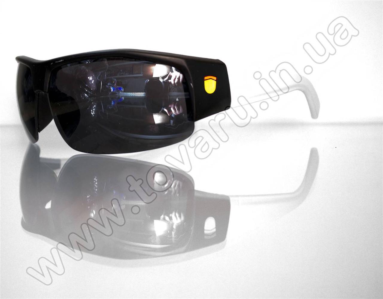 Оптом Очки мужские солнцезащитные спортивные - Черно-белые - SP306