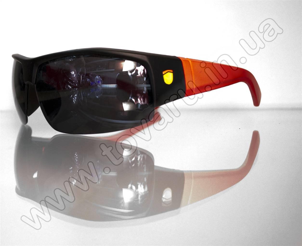 Оптом Очки мужские солнцезащитные спортивные - Черно-красные - SP306