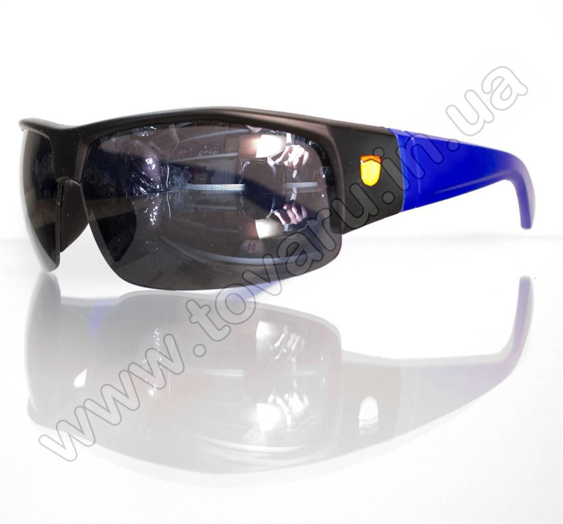 Оптом Очки мужские солнцезащитные спортивные - Черно-синие - SP306