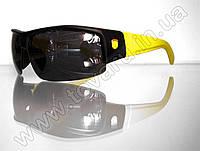 Оптом Очки мужские солнцезащитные спортивные - Черно-желтые - SP306, фото 1