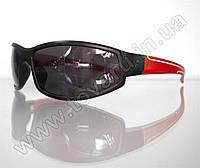 Оптом Очки мужские солнцезащитные спортивные - Черно-красные - 2093